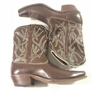 Vintage Comb Last women's boots 9.5 brown